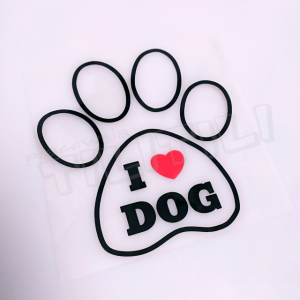 i love dog - naprasowanka